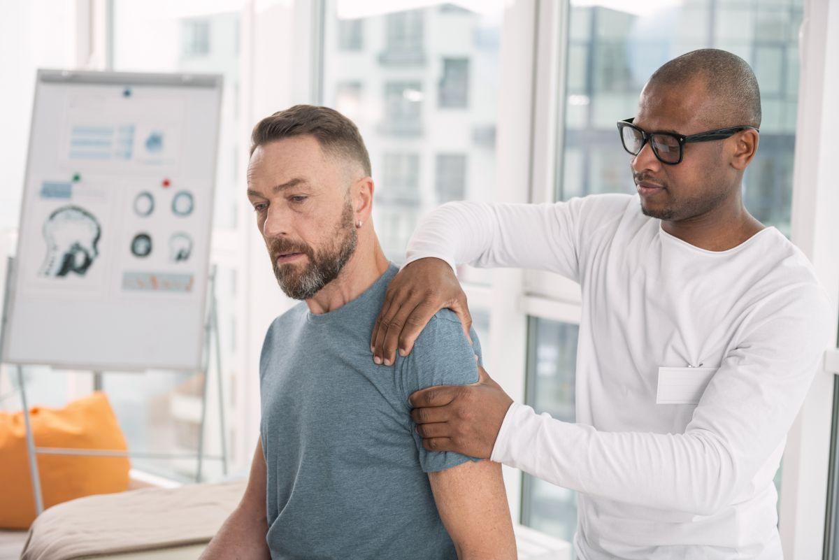 Paziente affetto da lesione della cuffia dei rotatori